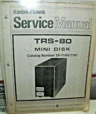 TRS-80 Model Mini Disk Original Service Manual 26-1160 Schematatics 26-1161 RARE