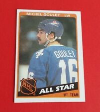 1984/85 Topps Hockey Michel Goulet Card #153***Quebec Nordiques***