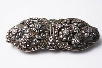 Antique Art Deco Sterling Silver Marcasite Brooch