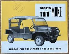 AUSTIN MINI-MOKE Sales Brochure c1965 #2260/A