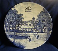 Delft Blue. Large Charger / Plate. Vale of Gamaorgen Golf and Country Club.