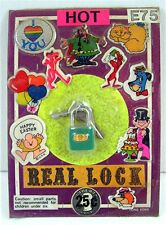 Lock & Keys Character Puffy Sticker Charms Gumball Vending Machine Disp Card #98