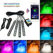 SMD5050 RGB LED Flexible Light Strip Bluetooth Car Interior Footwell Lamp Tape