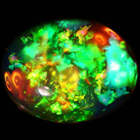 9x7 MM OVAL TOP SUPER RAINBOW ELECTRIC ETHIOPIAN FIRE WELO OPAL WHOLESALE PRICE