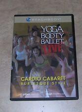 Beach Body Yoga Booty Ballet Live Cardio Cabaret Burlesque DVD in orig case