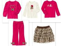 NWT Gymboree Girl 9 PARISIAN CHIC Pink Leopard Bow Pants Heart Shirt Dog