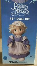 "Precious Moments Lizzie 18"" Doll Kit Limited Edition 1985 Paragon vintage sewing"