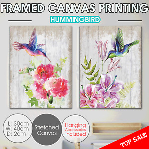 Humming bird Canvas Print Wall Art stretched framed Home Decor painting 40*30cm