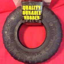 Giocattolo per cane resistente in gomma durevole PNEUMATICO 3 3/4 x 1 1/2 pollici nero non Tonic