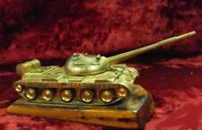 Tank panzer Antique USSR russian metal bronze figurine 7732c