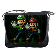 Unisex School Messenger Bag Super Mario Bros Shoulder Travel Notebook Bags