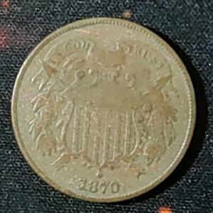 1870 U.S. Two Cent Coin