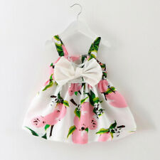 Baby Girl Clothes Fruit Printed Infant Outfit Sleeveless Princess Mini Dress B