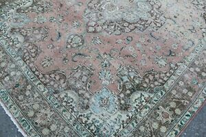 "12x9 Oversize Vintage Handmade Turkish Oushak Area Rug 148""x115"",375x292cm"