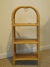 Vintage Shabby Cottage Chic Wicker Rattan Multi-Purpose 3-Tier Shelf Stand EXC