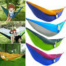 Hammock Portable Single Person Hanging Swing Fabric Travel Camping Outdoor Bed