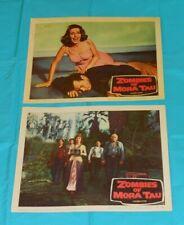 original ZOMBIES OF MORA TAU lobby card lot x2 (set B)