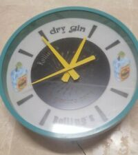 VINTAGE ADVERTISING ROLLING CLOCK,GINEBRA DRY GIN;RELOJ PUBLICIDAD ROLLINGS;1960