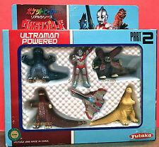 ULTRAMAN POWERED MINI FIGURE SET PART 2 1994 YUTAKA VS KAIJU JAPAN POCKET HERO