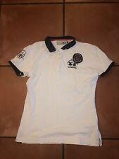 VTG 2004 La Martina Buenos Aires White MASERATI Polo Team Shirt #3 MIAMI Sz 5