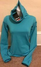 NWT NIKE WOMENS PRO COMBAT INFINITY STAY WARM PULLOVER TEAL TOP  XS