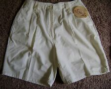 "Woolrich Women's Shorts Size 8 10 Waist 32"" Eggshell Off White Cotton Walking"