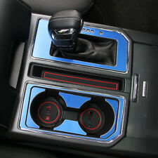 blue Interior Gear Shift Box Panel Cover Trim For Ford F150 F-150 2016 2017