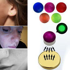 Fake Magnet Glow In Dark Colored Tragus Ear Nose Monroe Lip Stud Non Piercing US