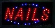 Nails Schlid LED Schild Leuchtreklame Leuchte Neon Werbung Display