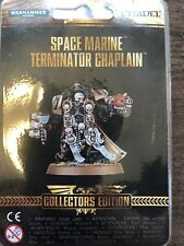 New listing warhammer 40K Space Marine Terminator Chaplain New Collectors Edition