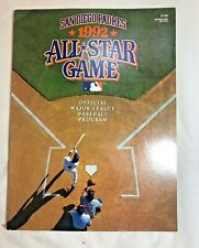 MLB All Star Game 1992 (San Diego Padres) Official Major League Baseball Program
