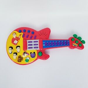 The Wiggles Musical Guitar Play Along Music Toy 2003 Spin Master Red Silly