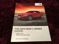 BMW 2 Series Coupe Full Price List 2014 - Jan 2014 Issue