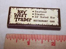 Wood Matches Pocket Size Box KEY WEST TRADER Restaurant Ormond Beach Florida