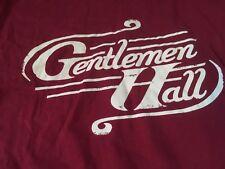 Gentlemen Hall Band Indie Rock Pop Logo T Shirt XL Rare Boston MA Nice