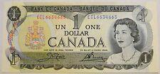 Gem UNC Canada 1973 $1 Crow-Bouey paper money Bank Note