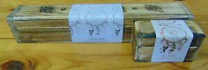 Mango wood incense burner boxes Sweet & Magical dreams sticks & cones gift idea