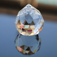 Clear 1X Cut Crystal Sphere Suncatcher 50mm Faceted Gazing Ball Prism Home Decor