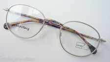 Spectacle Frame Made of Metal Matt Silver Colorful Hanger Individual Glasses L
