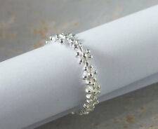 925 Sterling Silver Flower Ring Size 5.5 US