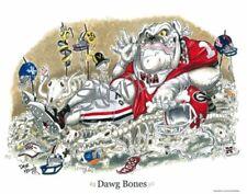 "Georgia Bulldogs Football Dave Helwig ""Dawg Bones"" artwork(11x14) UGA HAIRY"