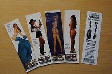 1995 Pin-Up Girl Bookmarks: Sherrie Lang by Ted Kimer  4 different