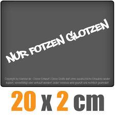 fotzen 20 x 2 cm JDM Sticker Voiture Automatique Blanc Autocollant pour vitres