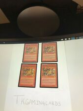 Playset Goblin Welder x4 NM unplayed Urza's Legacy mtg