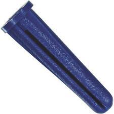 "80 Pk Hillman #10 - #12 Thread X 1"" Blue Plastic Drywall Anchor 10/Pk  5039"