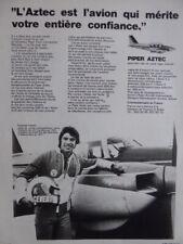 4/1973 PUB PIPER AZTEC AIRCRAFT AVION FLUGZEUG FRANCOIS CEVERT MATRA FRENCH AD