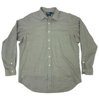 Polo Ralph Lauren Button Up Shirt Men's Size XL Curham Classic Fit Houndstooth