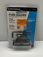 Scosche In-Line Fuse Holder for 4 or 8 gauge inc. 40 & 80 amp maxi-fuses New