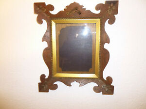 ANTIQUE ARTS AND CRAFTS ART NOUVEAU OAK WALL HANGING PICTURE FRAME