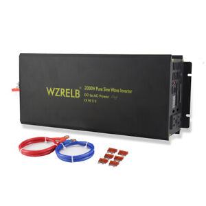 2000W Pure Sine Wave Inverter DC to AC Power Off Grid System 36/48V to 110/220V